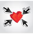 Pixel Heart vector image vector image