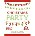 Christmas party invitation poster template vector image