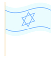 Israel flag vector image vector image