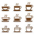 Set coffee cups vector image
