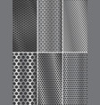 collection of metal backgrounds perforated steel vector image