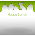 easter background white vector image