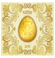 Happy easter jewelry egg vector image