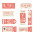 Festival and Carnival Tickets vector image