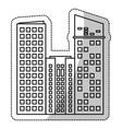 building facade estate cut line vector image