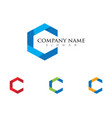 c letter logo template icon design vector image
