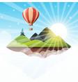 cartoon island landscape fir vector image