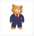 Cartoon teddy bear in a suit and tie vector image
