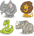 cute wild animals set vector image