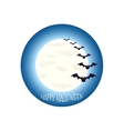 Happy Halloween icon scary on blue background vector image