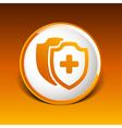 Medical Shield Icon shield flat health cross vector image