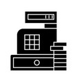 payment - cash register machine icon vector image