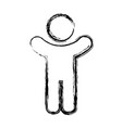 pictogram man icon vector image