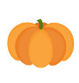 pumpkin icon flat or cartoon style isolated on vector image