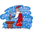 santa claus cartoon christmas vector image