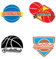 set of basketball vector image