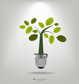 A light bulb with tree vector image