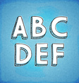 Doodle Style Hand Drawn Alphabet A-F vector image vector image