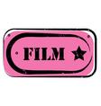 film stamp vector image