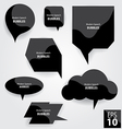 Modern Speech Bubbles vector image vector image