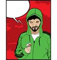 Drug addict comic style vector image