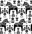 Swedish folk art Dala or Daleclarian horse pattern vector image