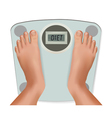 Feet on the scale vector image