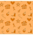 Christmas gingerbread cookies seamless vector image