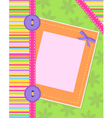 colorful card vector image vector image