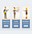 business people set director and clerk business vector image