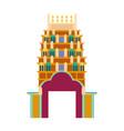 cathedral churche tibetan temple building landmark vector image