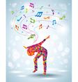 Dancing young girl vector image