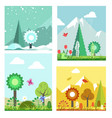 forest in different seasons vector image