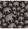gray elephants simple seamless black pattern eps10 vector image