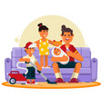 happy family great father spend time with vector image
