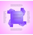 Infographics template Four options vector image