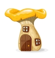 Mushroom house with door and windows vector image