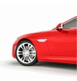 Very fast sport red car vector image