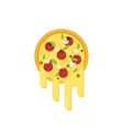 Pizza with flowing cheese vector image