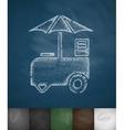 ice cream van icon vector image