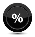 Button with percent vector image vector image