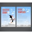 template design flyer brochure cover vector image vector image