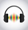 music headset vector image