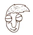 Hand Drawn Cartoon Man vector image