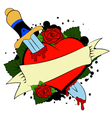 heart tatoo vector image