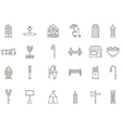 City elements black icons set vector image vector image