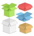 Paper Boxes vector image vector image