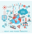 Heavy and power industry infographics template vector image
