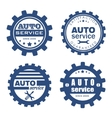 Auto service badges vector image