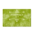 Business card or storefront pharmacies that sell vector image
